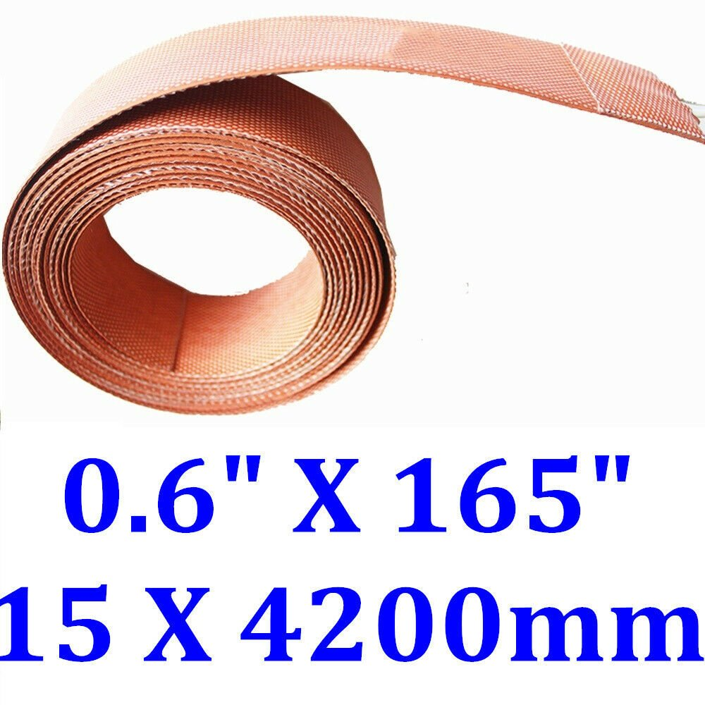 "0.6"" X 165"" 15 X 4200mm 400W Silicone Heater Flexible Heating Element Strip Belt"