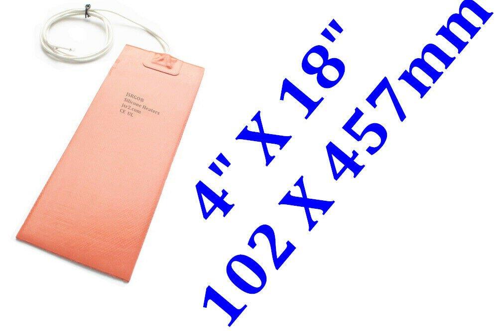 """4"""" X 18"""" 102 X 457mm 350W Ukulele Side Bending Silicone Heating Repair Blanket"""