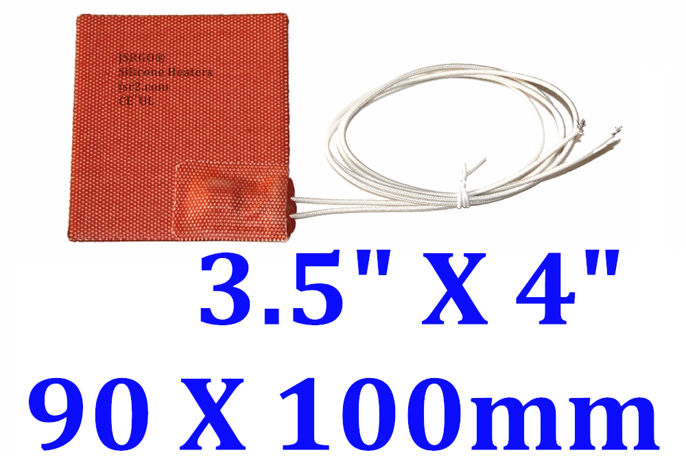 "3.5"" X 4"" 90 X 100mm 120V 6W Factory Direct Sale JSRGO Silicone Rubber Heater"