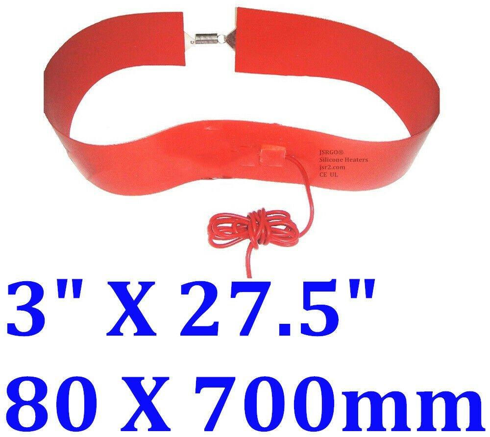 "3"" X 27.5"" 80 X 700mm 250W 2 Spring Hooks Barrel Tank Bucket Pail Band CE Heater"