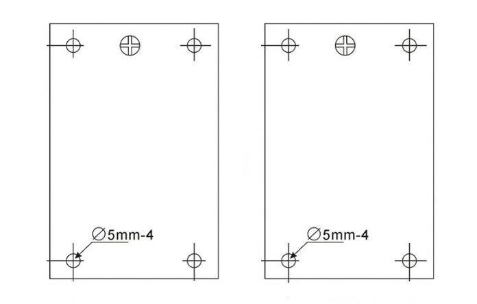 "4.72"" X 7.28"" 120 X 185mm Silicone Aluminum Plate Cabinet Enclosure Heater Pad"