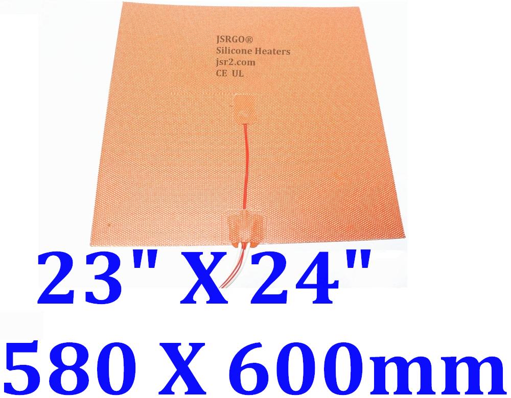 "23"" X 24"" 580 X 600mm 230V 1000W w/ 3M w NTC100K Thermister JSRGO CEUL Heater"