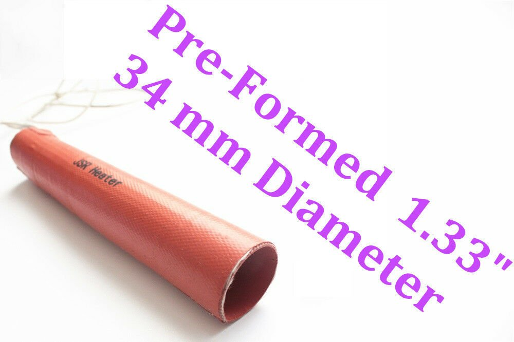 "1.33"" 34mm Diameter Pipe by 10"" 254mm 120V Heat up to 400F JSR2 Pipe Heater"
