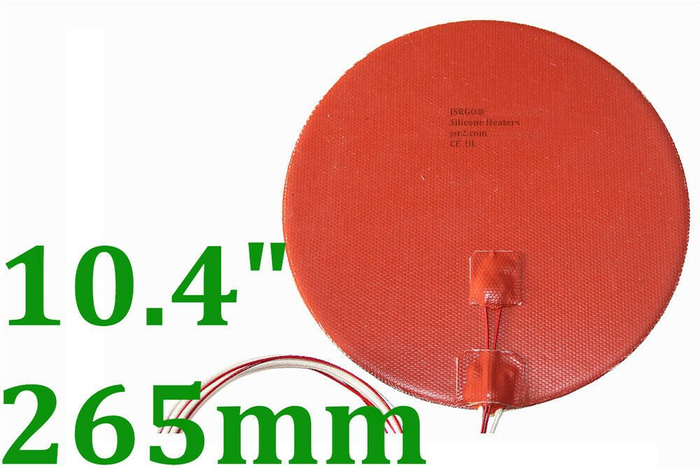 "10.4"" 265mm Diameter 110V 400W w/ 3M w/ Thermister 3D Printer Heated Bed Heater"