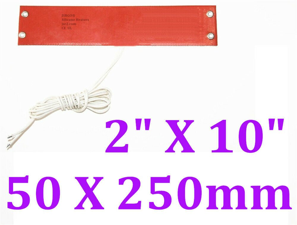 "2"" X 10"" 50 X 250mm 100W 80C Car Truck Fuel Diesel Filter WVO JSRGO CEUL  Heater"