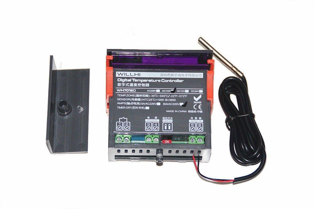WillHi Universal 12V / 24V / 380V JSR2 Digital Thermostat Controller