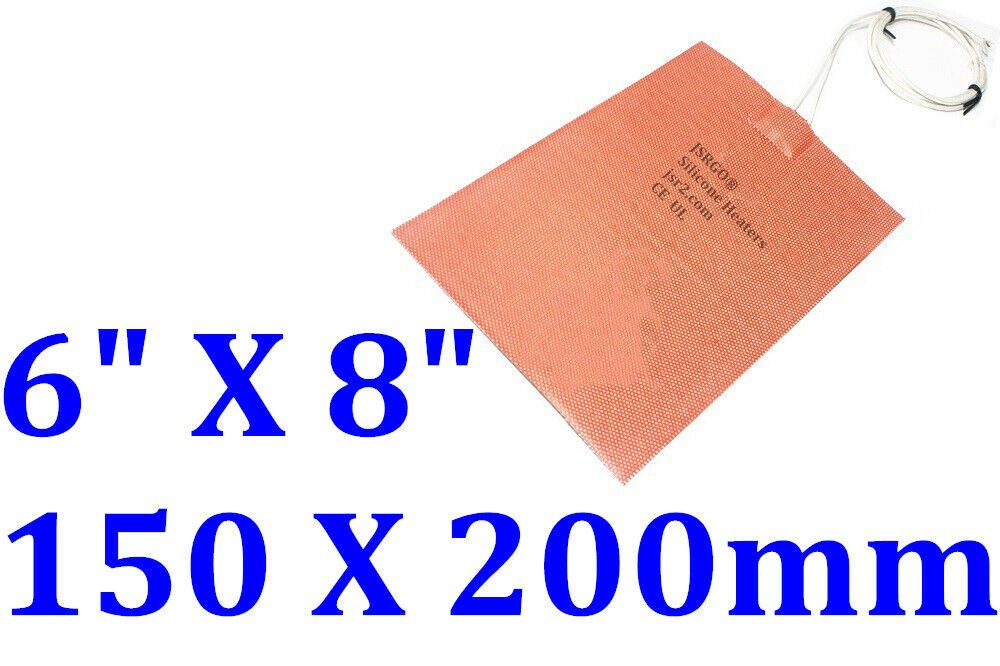 """6"""" X 10"""" 152 X 254mm 120V 300W w/ 3M Factory Direct Sale CE Silicone Heating Pad"""