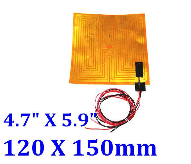 "4.7"" X 5.9"" 120  X 150mm 24V 85W w/ 3M NTC100K thermistor 3 PCs Kapton Heaters"