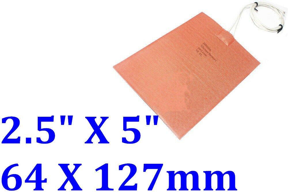 "2.5"" X 5"" 64 X 127mm 200W w/ Thermostat of 50 Deg C Engine Block Oil Pan Heater"