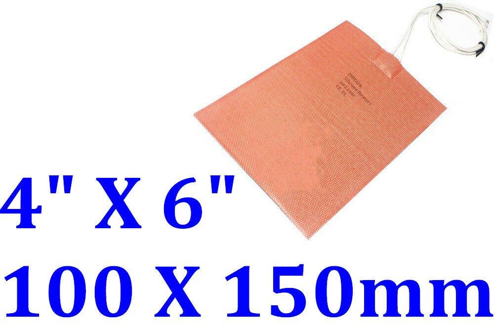 "4"" X 6"" 100 X 150mm 12V 120W 3M Universal All Purpose CE UL Silicone Heater Pad"