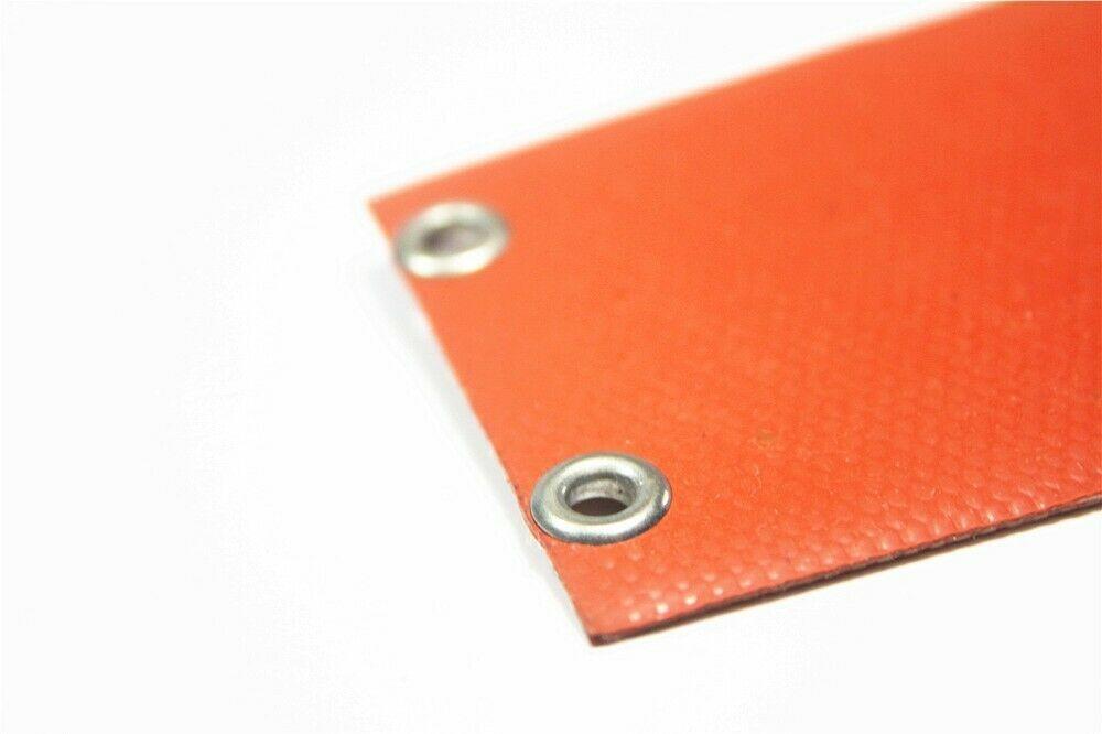 """2"""" x 9 1/8"""" 51 X 232mm 220V 100W w/ 4 Eyelets in Short Side w/ Plug Heater Pad"""