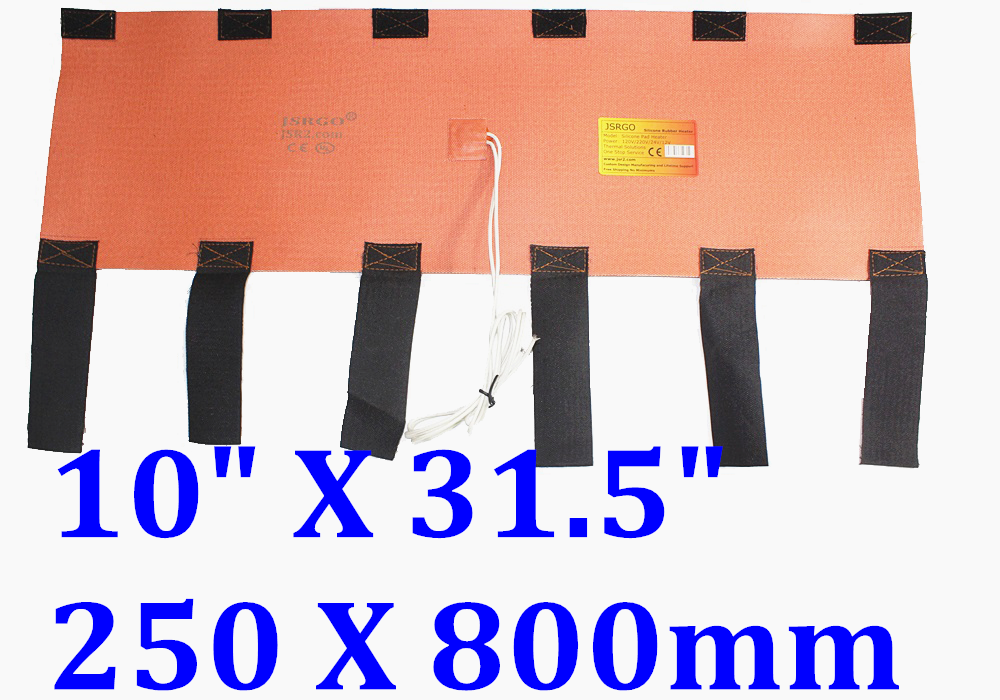 "10"" X 31.5"" 250 X 800mm 1000W Sanitary Spool Pipe Heating Wrap Silicone Heater"