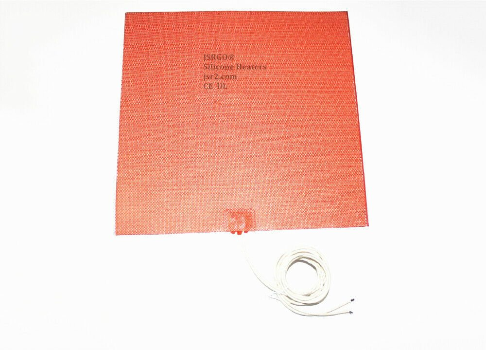 "4"" X 4"" 100 X 100mm 100W w/ Thermostat 80 Deg C Universal Silicone Heater Pad"