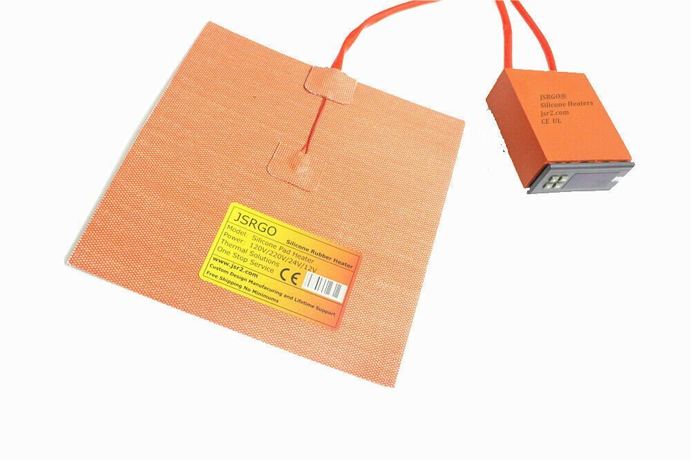 "16"" X 23"" 400 X 580mm 120V 1500W w/ 3M Digital Controller JSRGO Silicone Heater"