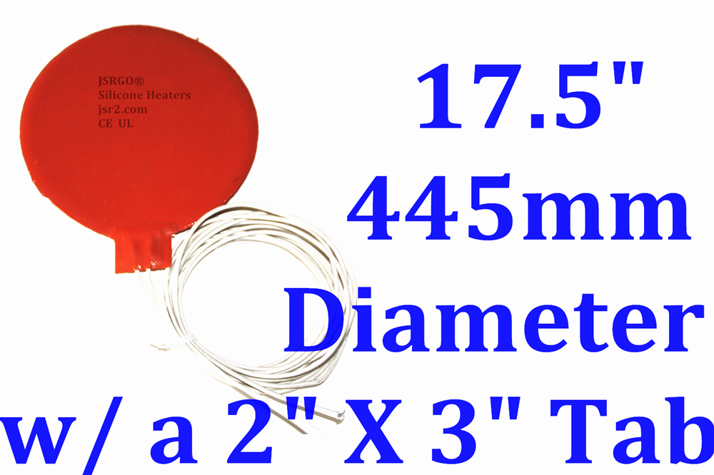 "11/"" 280mm Diameter 230V 600W w// 5mm Hole in Center w// 3M CE UL iThermal Pad"