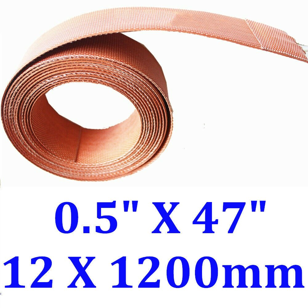 "0.5"" X 47"" 12 X 1200mm Silicone Heater Pipe Heat Tape WVO JSRGO Universal Strip"