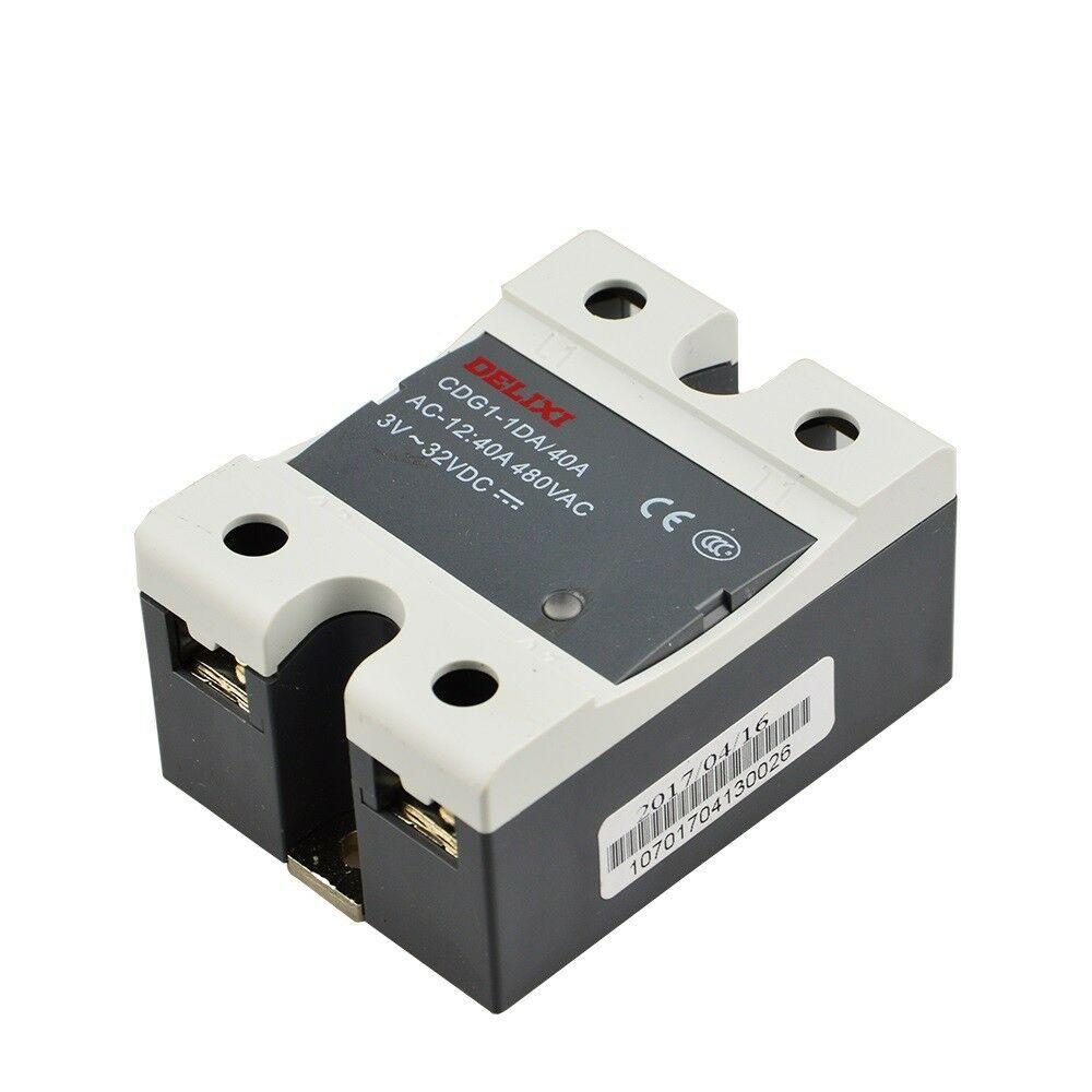 Delixi Solid State Relay Module Heat Sink CDG1 - 1DA40A 480V AC SSR Control