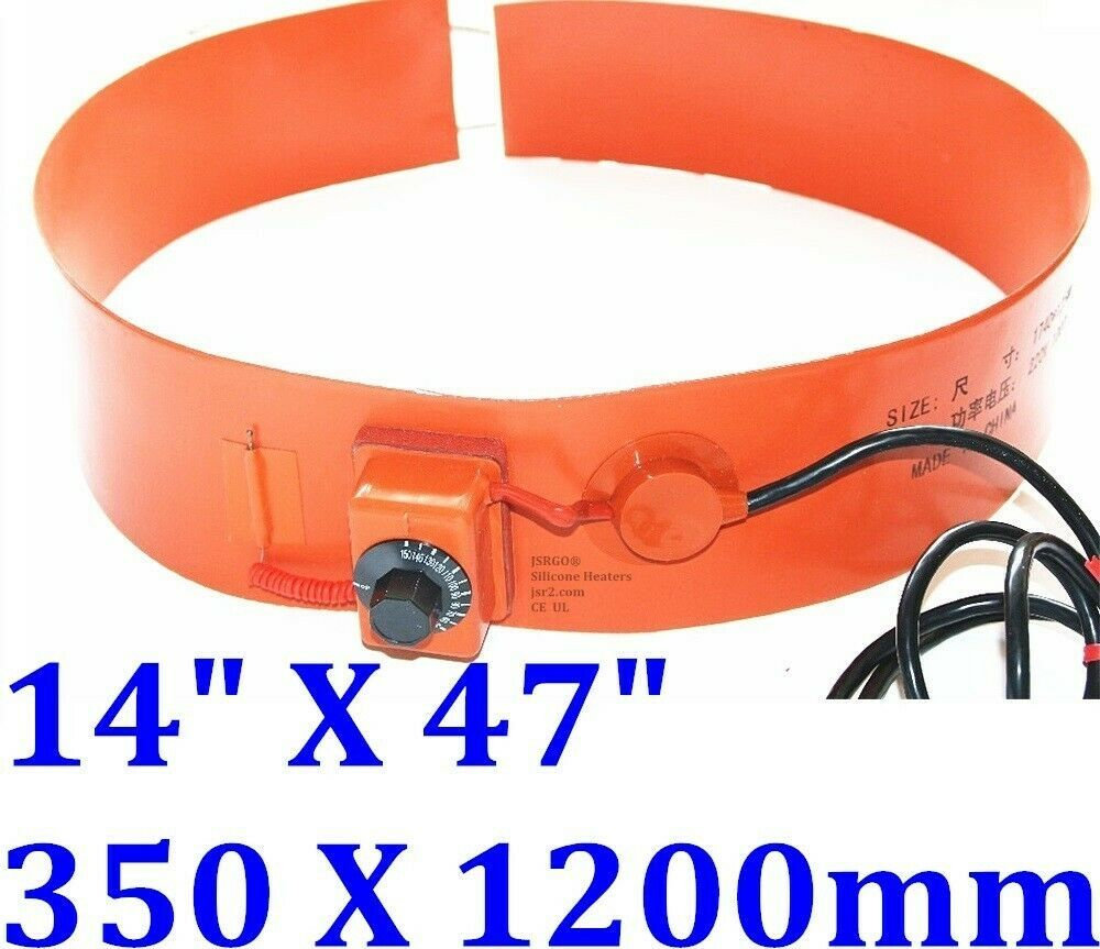 """14"""" X 47"""" 350 X 1200mm 110V 2500W Tank Drum Band Heater w/ Adjust Control Barrel"""