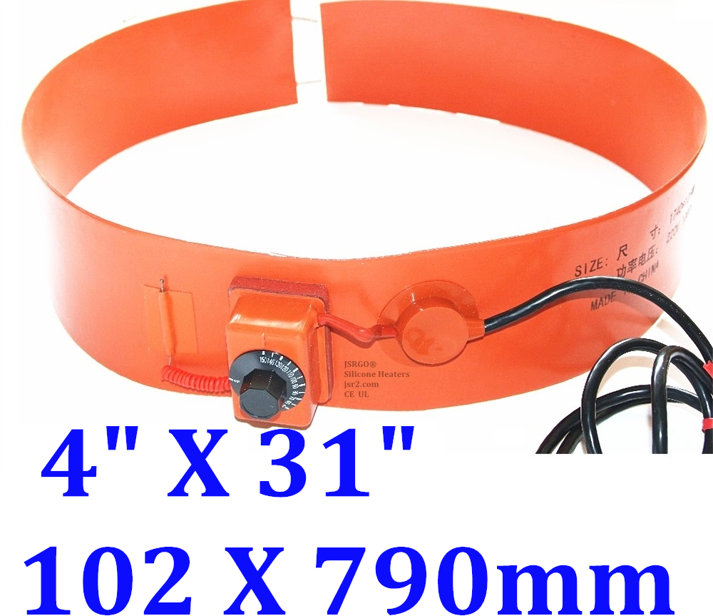 "4"" X 31"" 102 X 790mm 120V 300W w/ Adjustable Barrel Tank Bucket Pail Belt Heater"