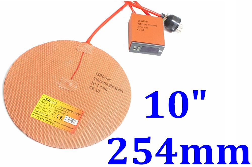 "10"" 250mm Round 250W w/3M w/ Digital controller kettle Vacuum Chamber Heater Pad"