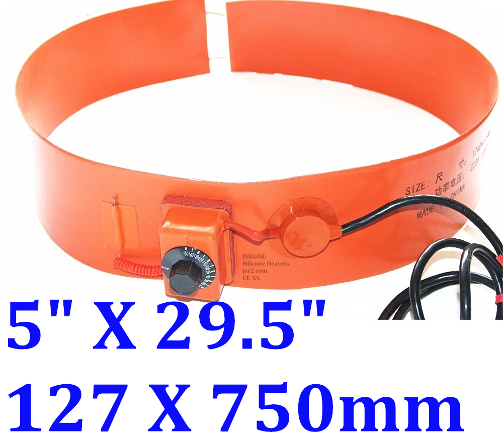 """5"""" X 29.5"""" 127 X 750mm 110V 400W Adjustable Control Silicone Belt Band CE Heater"""