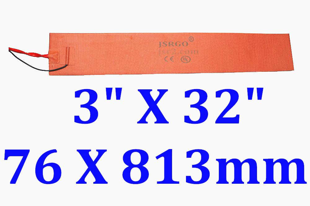 "3"" X 32"" 76 X 813mm 300W Mandolin Side Bending Heating Blanket Thermostat 200 C"