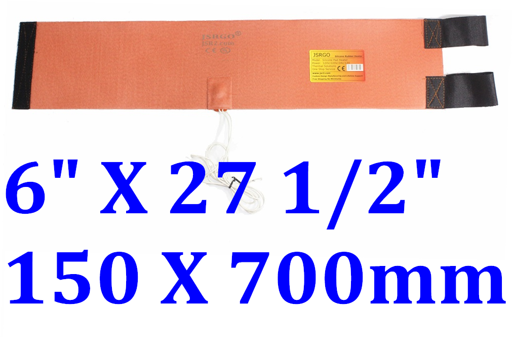 "6"" X 27 1/2"" 150 X 700mm 120V 400W Thermostat Refrigerant Cylinder Heat Blanket"
