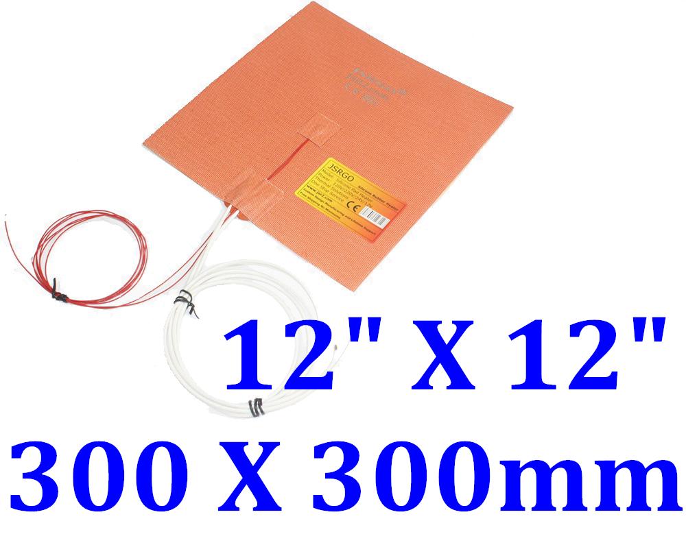 "12"" X 12"" 300 X 300mm 230V 700W w/ 3M w/ NTC100K JSR2 CE Silicone Rubber Heater"