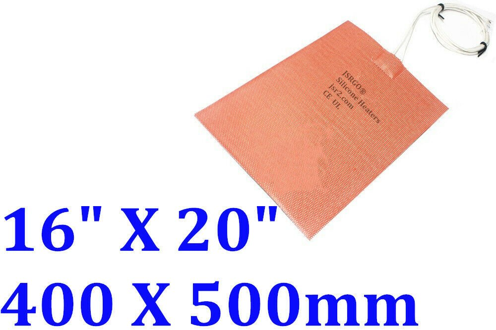 """16"""" X 20"""" 400 X 500mm 110V 600W CE UL Engine Oil Pan Universial Silicone Heater"""