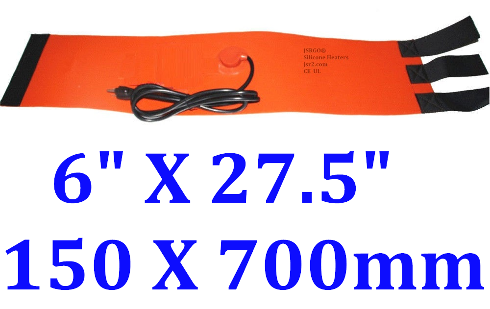 "6"" X 27.5"" 150 X 700mm 400W w/ 60C Thermostat 30 ~ 50 Lb Cylinder Tank Heater"