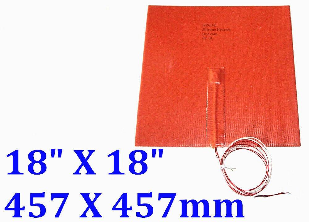 "18"" X 18"" 457 X 457mm 110V 1600W w/ NTC100K JSRGO CE UL Silicone Rubber Heater"