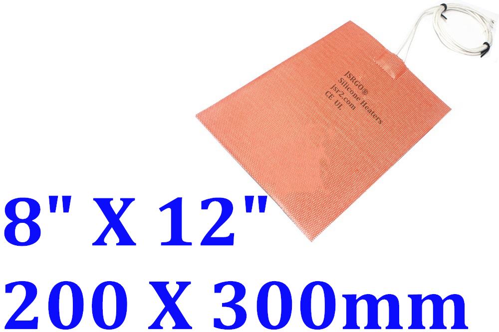 "8"" X 12""  200 X 300mm 12V 10W w/ 10 C Thermostat JSR2 CE UL Silicone Heating Pad"