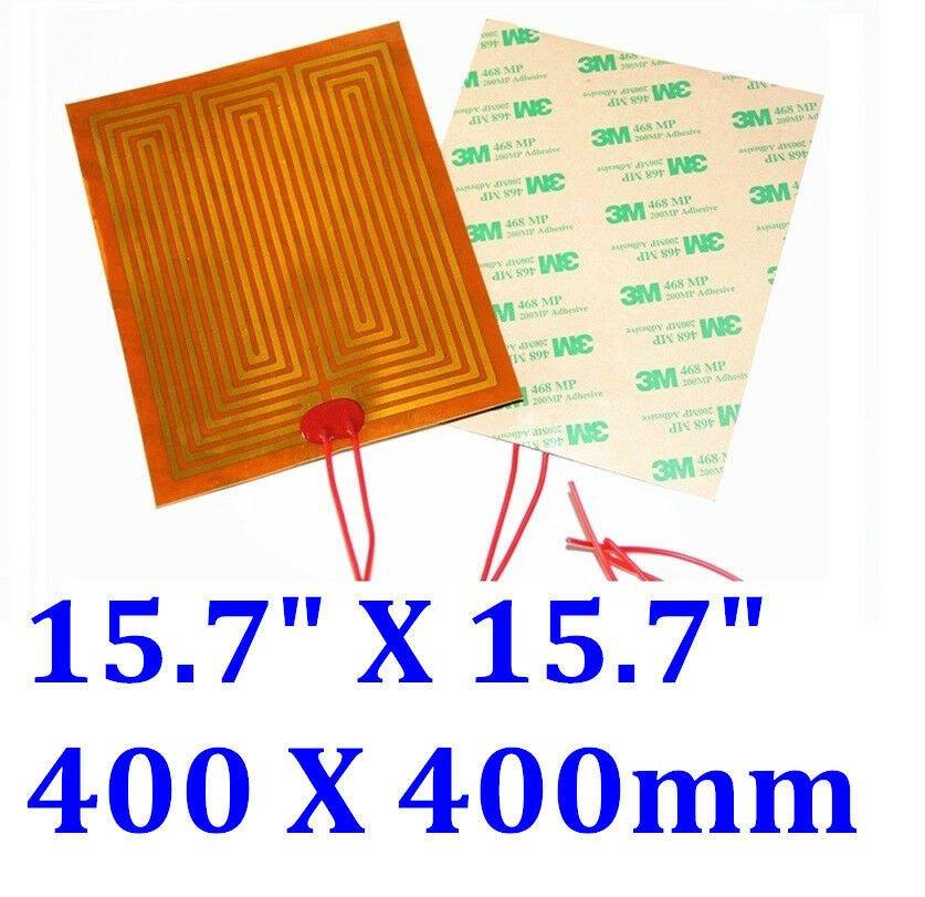"""16"""" X 16"""" 400 X 400mm 24V 200W w/ 3M  JSRGO Kapton Heater Heating Pad Mats"""