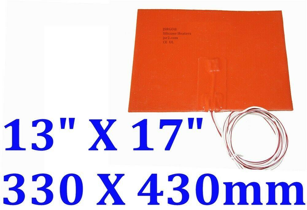 "13"" X 17"" 330 X 430mm 24V 350W w/ 3M w NTC 100K Thermister CE UL Silicone Heater"