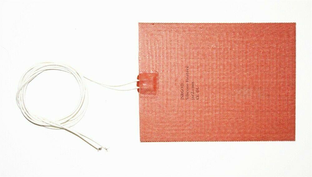 """12.6"""" X 13.8"""" 320 X 350mm 110V 500W w/ 3M CE UL JSRGO Silicone Battery Heater"""
