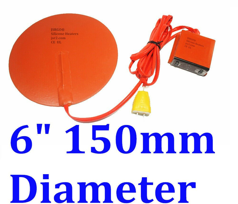 "6"" 150mm Diameter Round Heater Kettle Vacuum Chamber Plus Digital Controller SET"