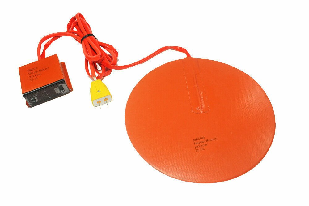 "6"" 150mm Diameter Round Heater Kettle Vacuum Chamber Plus Digital Controller SET"