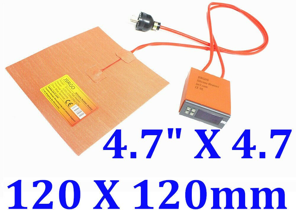"4.72"" X 4.72"" 120 X 120mm 100W M3D Micro 3D Printer Silicone Heated Build Plate"