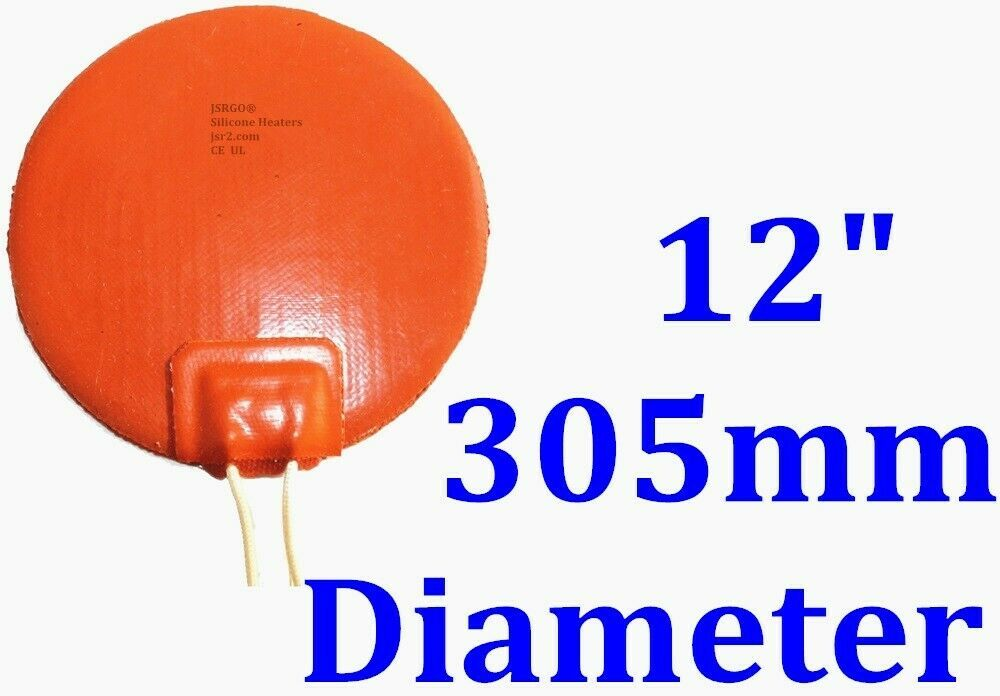 """12"""" 305mm Diameter Round 110V 100W w/ 3M Factory Direct Sale CE Silicone Heater"""