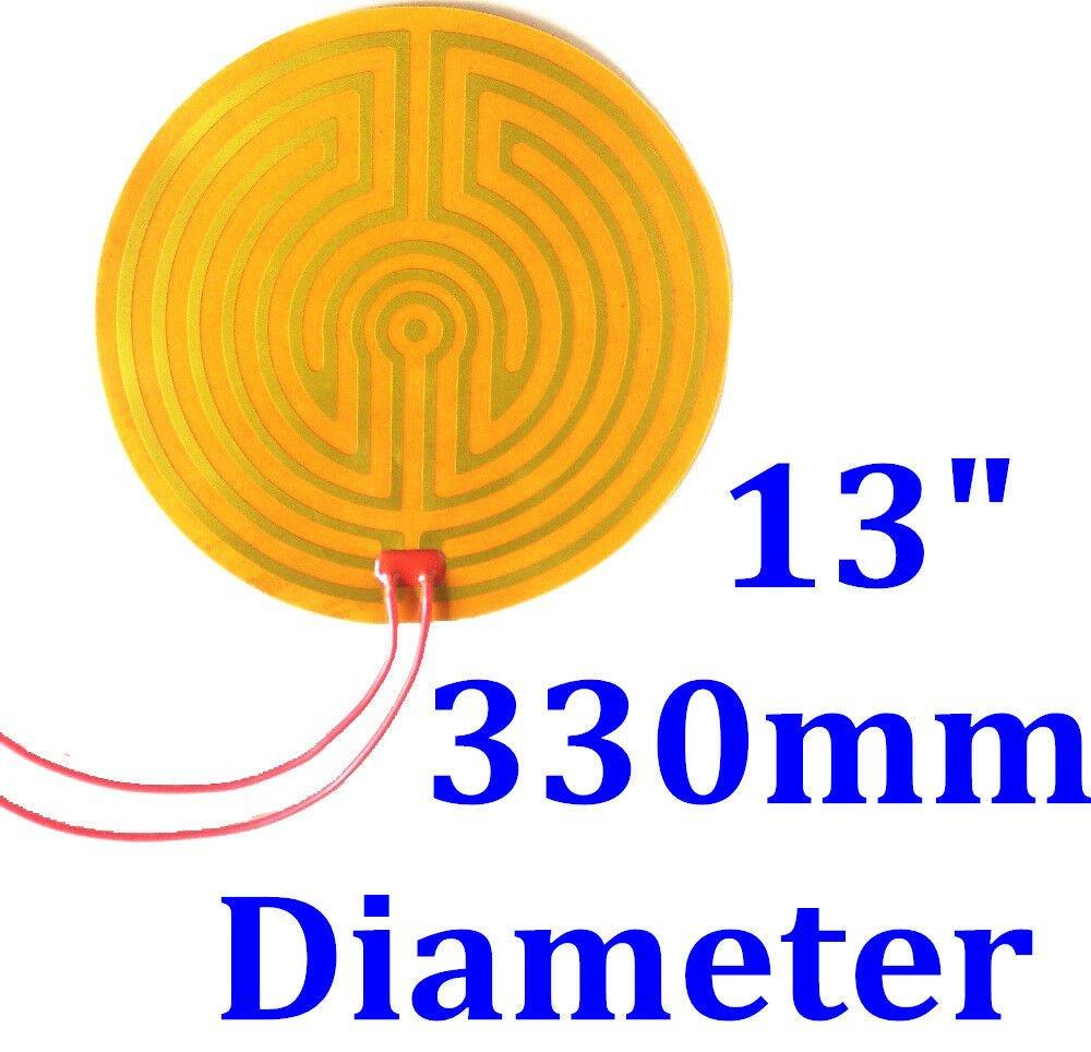 "13"" 330mm Diameter Round 120V 300W w/ 3M  w/100K  Kapton Heater Heating Pad Mats"