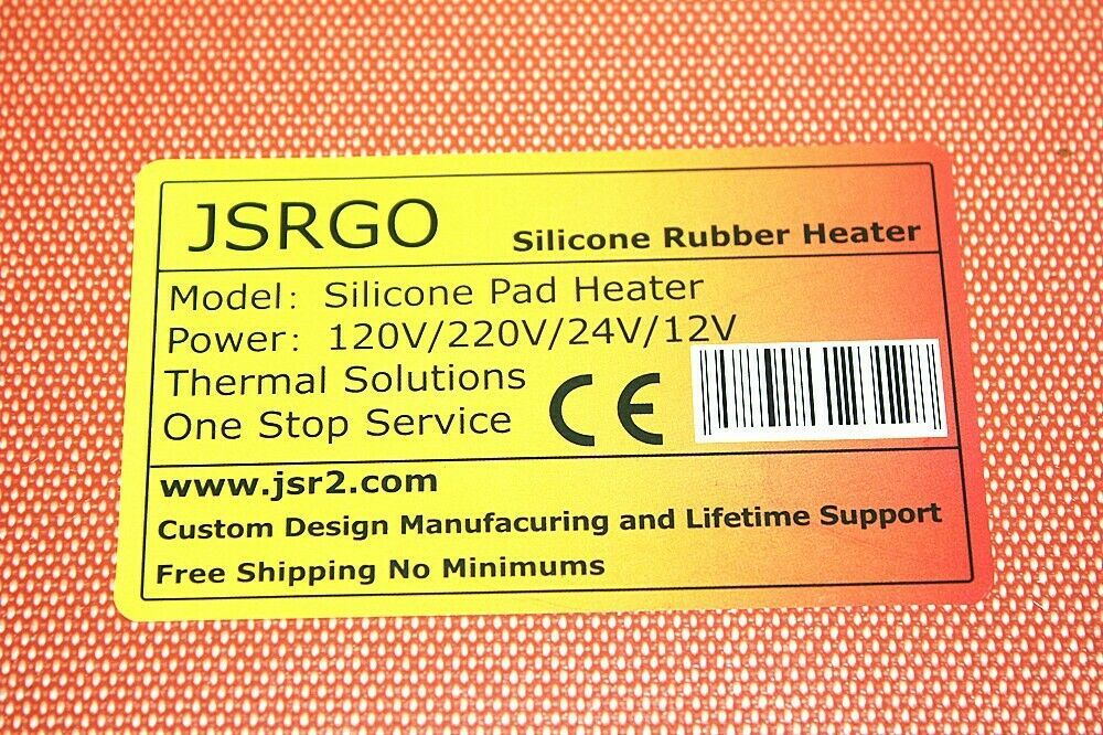"""6/"""" X 22/"""" 152 X 559mm 450W Rubber Heating Blanket Thermostat of 0-200 C NO 3M"""