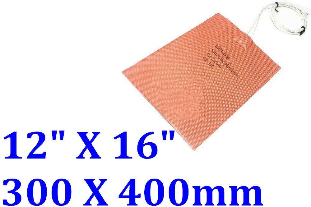 "12"" X 16"" 300 X 400mm 36V 220W 3M Universal CE UL JSRGO Silicone Heating Pad Mat"