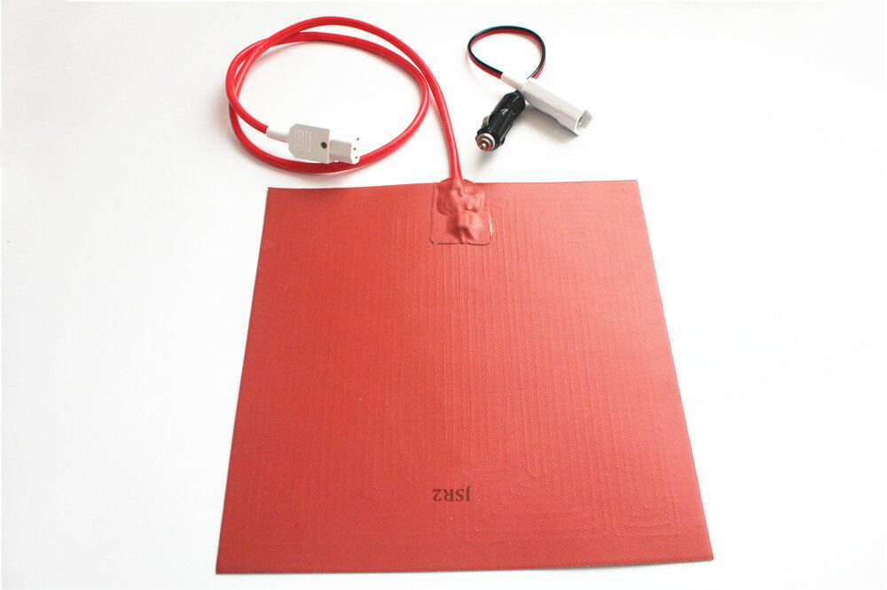 """11"""" X 11""""  280 X 280mm 12V 150W Hot Food Delivery Heater Pad with Thermostat 75C"""