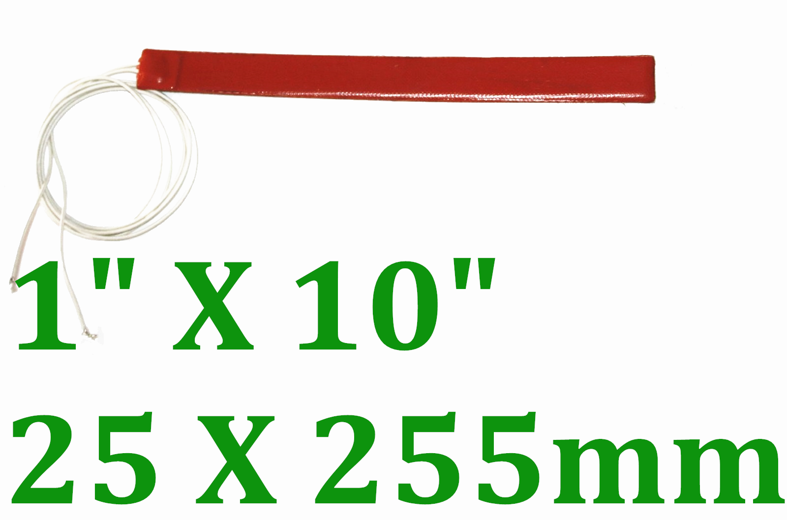 "1"" X 10"" 25 X 255mm 24V 100W w/ 3M JSR CE UL Silicone Rubber Heating Strip"