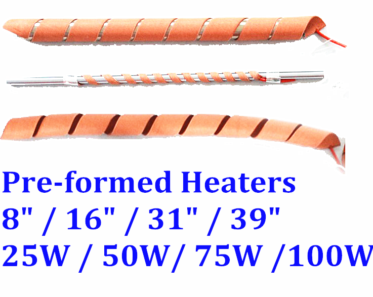 "8"" / 16"" / 31"" / 39"" Pre-formed Stretchable CE Silicone Heater Pipe Line Heating"