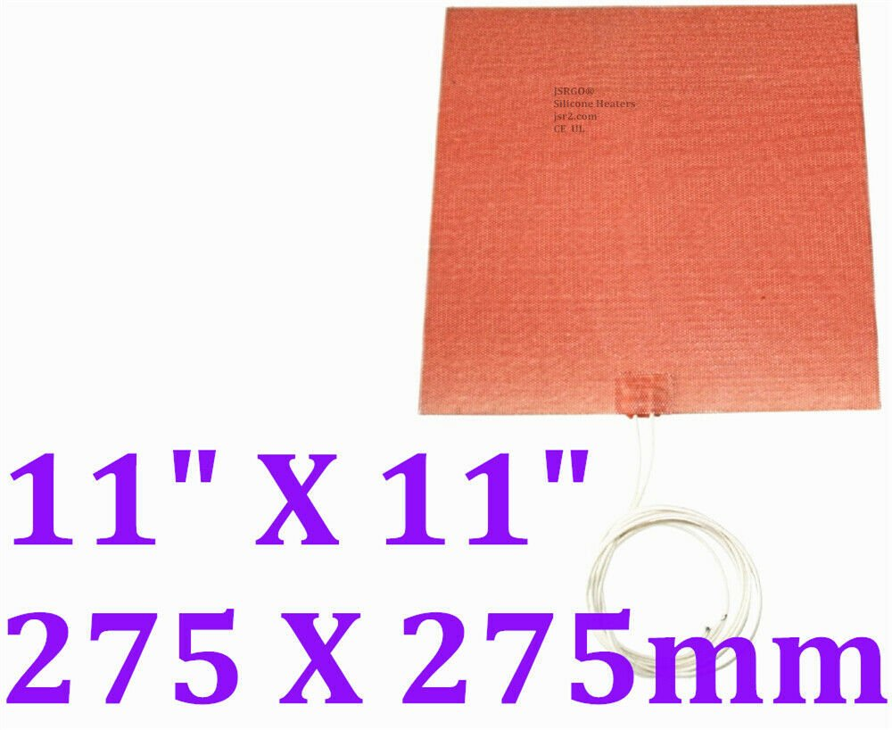 "11"" X 11"" 275 X 275mm 24V 300W w/o 3M Factory Direct Sale CE UL Fuel Heater Pad"