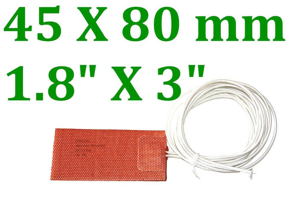 """1.8"""" X 3"""" 45 X 80mm 12V 30W Factory Direct Sale CE UL JSRGO Heater Pads 5 PCs"""