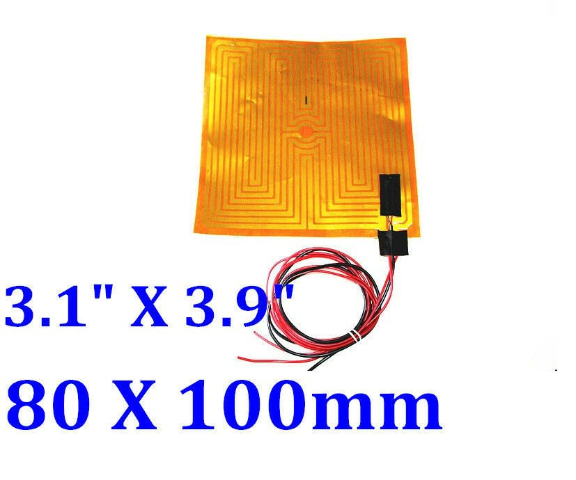 "3"" X 4"" 80 X 100mm 12V 35W w/ 3M w/ NTC100K Thermistor  5 PCs CE Kapton Heaters"